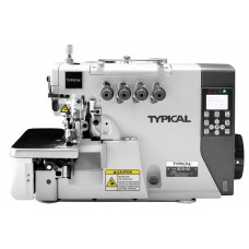 Typical GN-7100-4D Direct Drive İğne Pozisyonlu Mekanik 4 İplik Overlok Makinesi